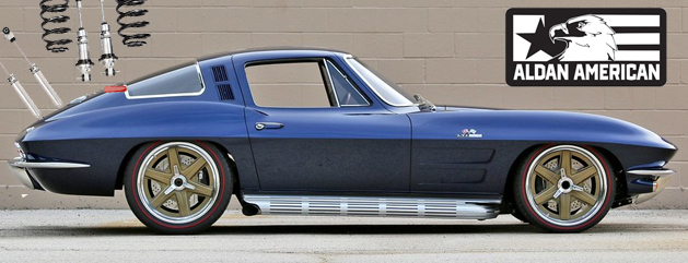 1964 Blue Corvette with Alda American Coilover suspension kits upgrade