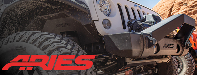 White Jeep with Aries Off Road front Bumper