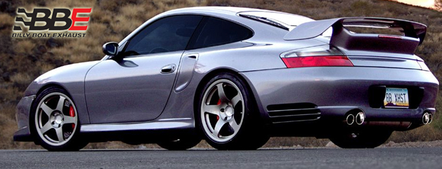 Silver Porsche 911 with Billy Boart Exhaust System