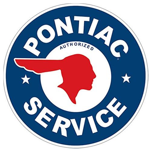 Pontiac parts sign