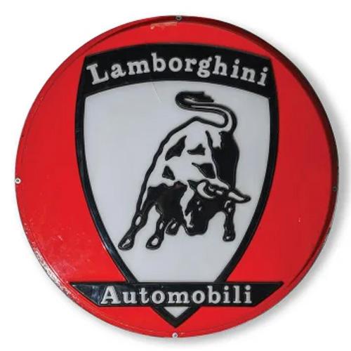 Lamborghini parts sign