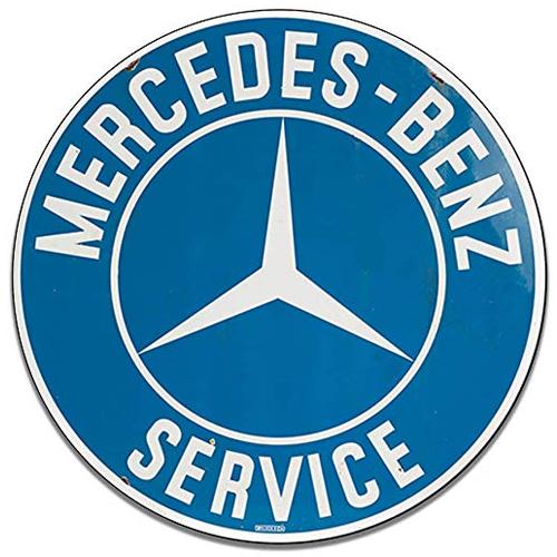 Mercedes Benz parts sign
