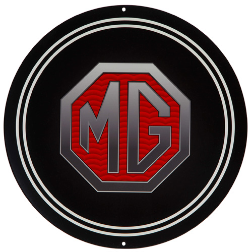 MG parts sign