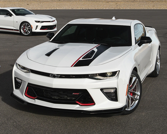 White Chevy Camaro SS redline Performance upgrades - CrownAuto.parts