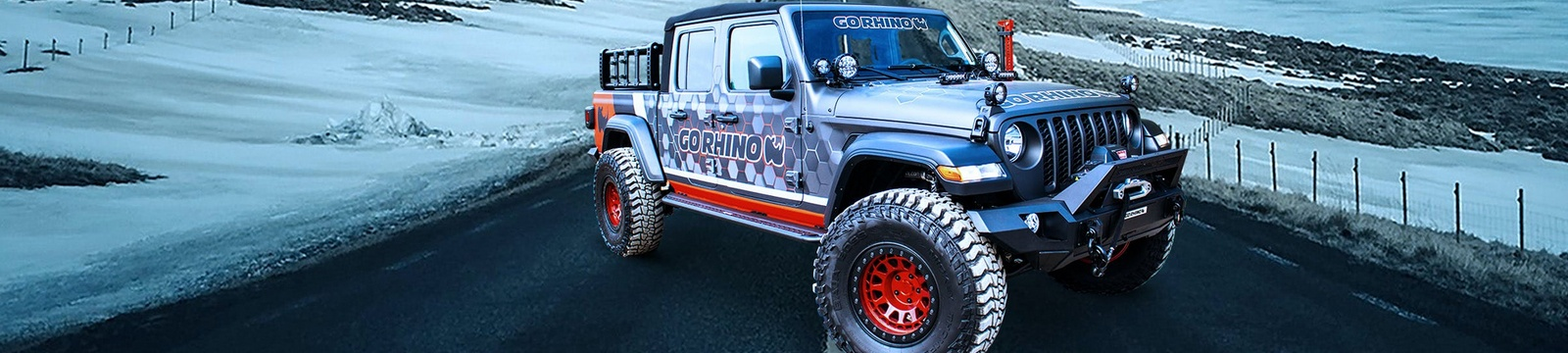 Go Rhino Jeep Gladiator fully accessorized from Crown Auto Parts