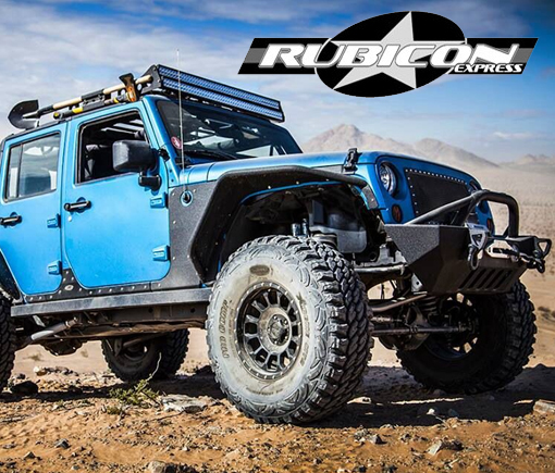 Rubicon Express Blue Jeep JK with Lift kit - Crown AUto Parts