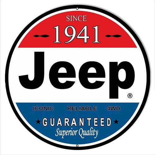 Jeep metal sign auto parts link - Crown AUto Parts