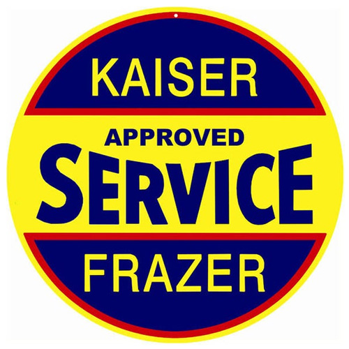 Kaiser metal sign auto parts link - Crown Auto Parts