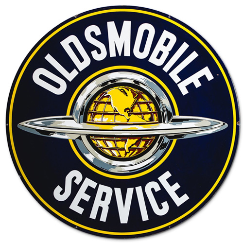 Oldsmobile metal auto parts sign link - Crown Auto Parts