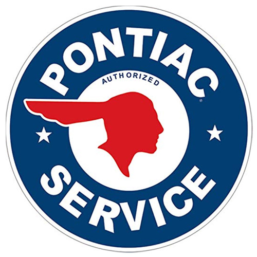 Pontiac metal sign auto parts link - Crown Auto Parts