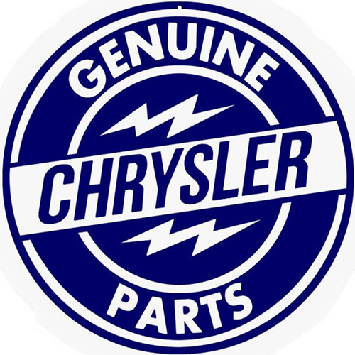 Chrysler metal auto parts sign link - Crown Auto Parts