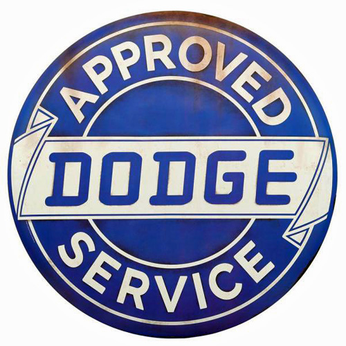 Dodge metal sign auto parts link - Crown AUto Parts
