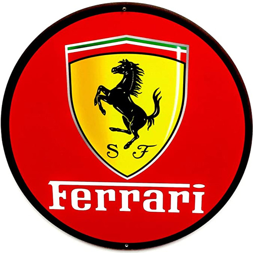 Ferrari metal sign auto parts link - Crown Auto Parts