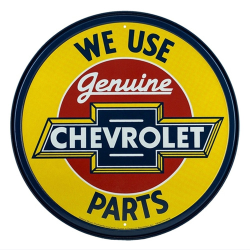 Chevy metal auto parts sign link - Crown Auto Parts