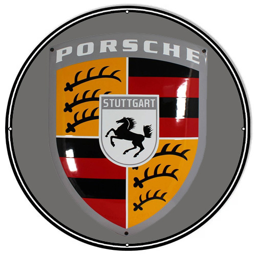 Porsche metal sign auto parts link - Crown Auto Parts