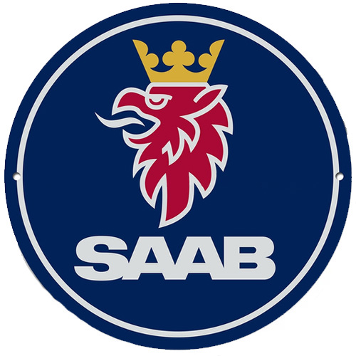 Saab metal auto parts sign link - Crown Auto Parts