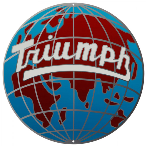 Triumph metal sign auto parts link - Crown Auto Parts
