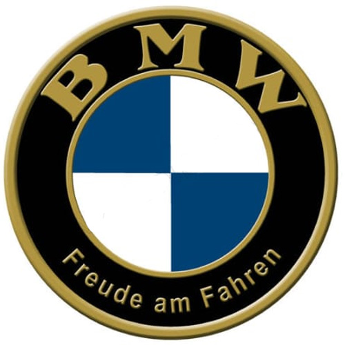 BMW metal auto parts sign link - Crown Auto Parts