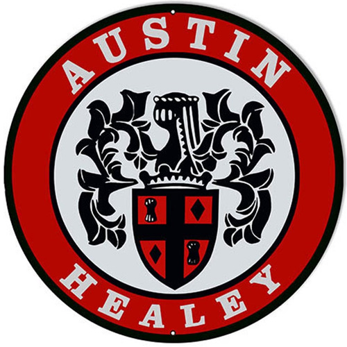 Austin Healey metal sign auto parts link - Crown Auto Parts