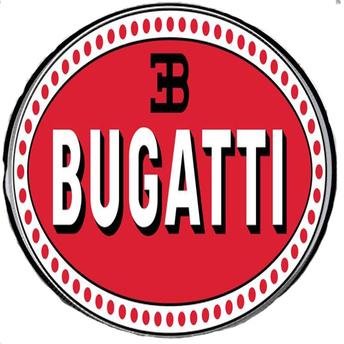 Bugatti metal auto parts sign link - Crown Auto Parts
