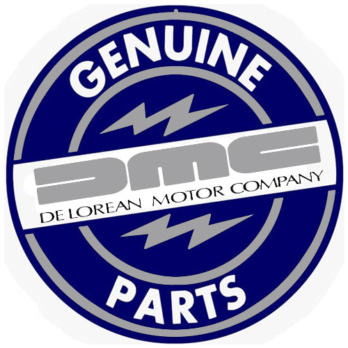 DeLorean metal sign auto parts link - Crown Auto Parts