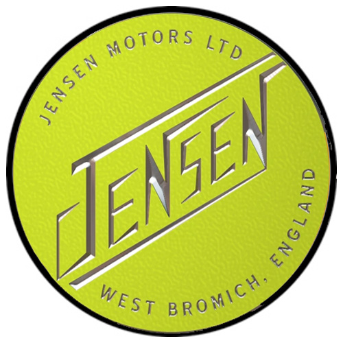 Jensen Motors metal auto parts sign link - Crown Auto Parts