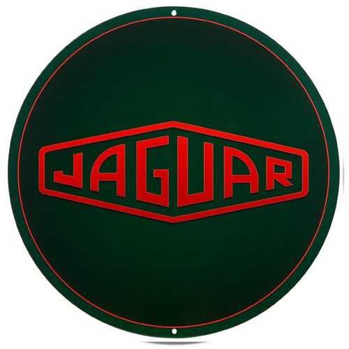 Jaguar metal auto parts sign link - Crown Auto Parts