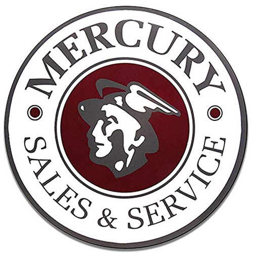 Mercury metal sign auto parts link - Crown Auto Parts
