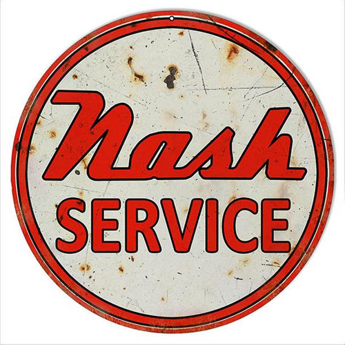 Nash metal sign auto parts link - Crown Auto Parts
